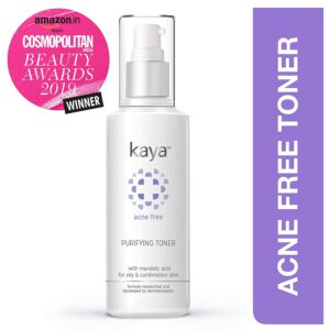 Kaya Acne Free Purifying Toner, with Mandelic Acid for oily & combination skin